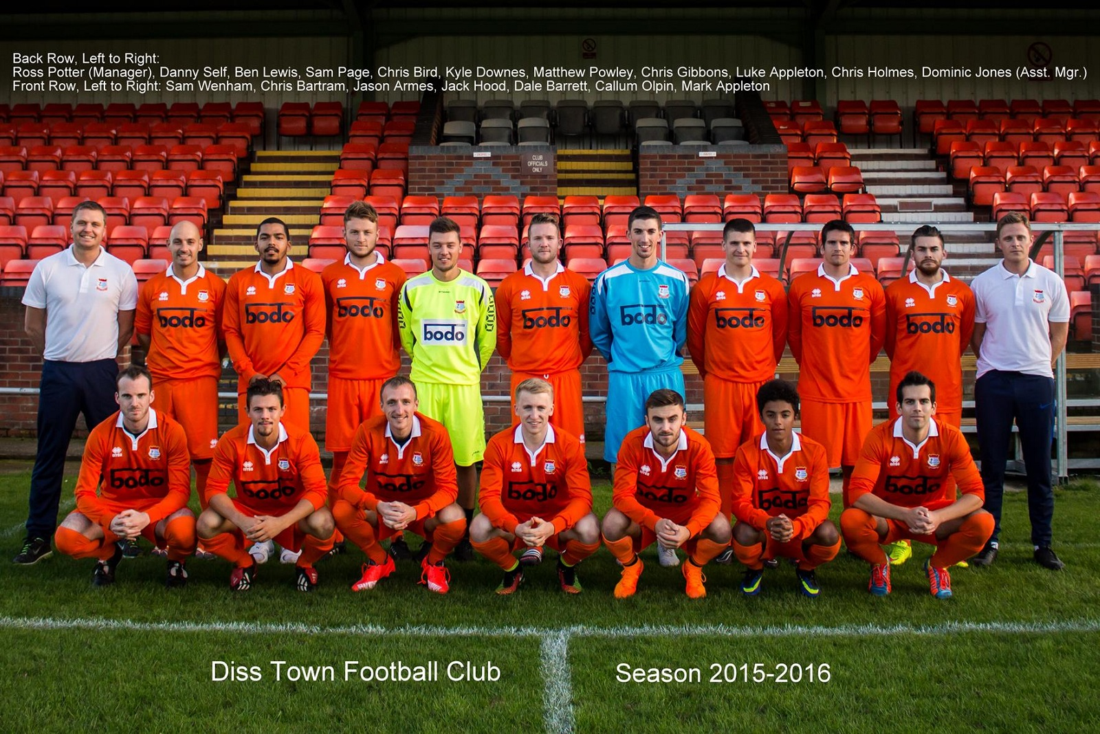 Bodo Ltd are proud to Sponsor Diss Town Football Club